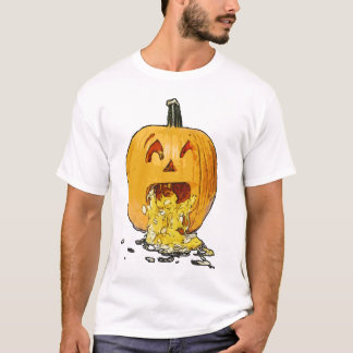 Pumpkin Throwing Up - Vomiting T-Shirt