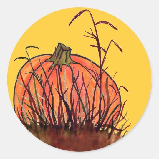 Pumpkin Time! Classic Round Sticker