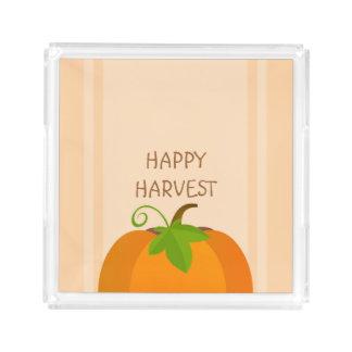 Pumpkin Top Acrylic Tray