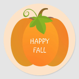Pumpkin Top Classic Round Sticker