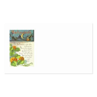 Pumpkin Vines Jack O Lantern Witch Black Cat Pack Of Standard Business Cards