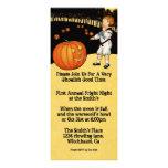 Pumpkin Vintage Halloween Invitation