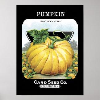Pumpkin Vintage Seed Packet Print
