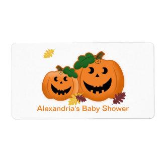 Pumpkin Water Bottle Sticker Shipping Label
