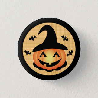 Pumpkin Witch Button