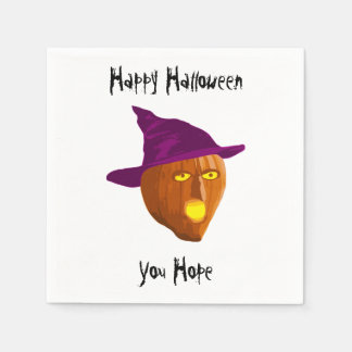 Pumpkin Witch: Happy Halloween - You Hope Disposable Napkin