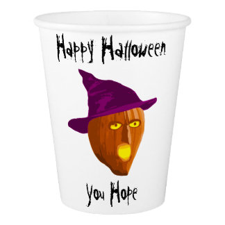 Pumpkin Witch: Happy Halloween - You Hope Paper Cup