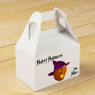 Pumpkin Witch: Happy Halloween - You Hope Party Favour Boxes