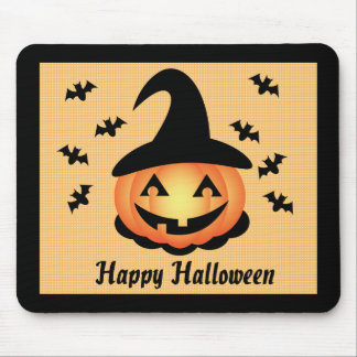 Pumpkin Witch Mousepad