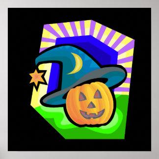 pumpkin witch print
