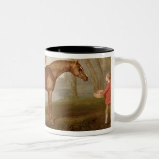 Pumpkin with a Stable-Lad, 1774 (oil on panel) Two-Tone Coffee Mug