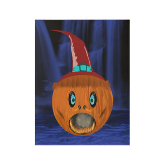 Pumpkin Wood Poster