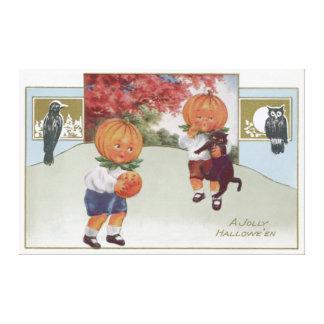 Pumpkinhead Jack O' Lantern Black Cat Owl Canvas Prints