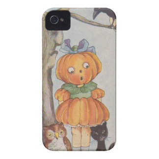 Pumpkinhead Jack O Lantern Crow Black Cat Owl iPhone 4 Cover