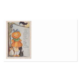 Pumpkinhead Jack O Lantern Crow Black Cat Owl Pack Of Standard Business Cards