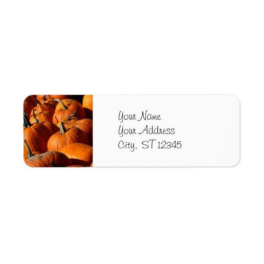 Pumpkins Address Label