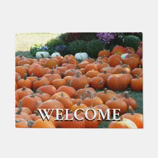 Pumpkins and Mums Autumn Harvest Photography Doormat