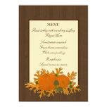 Pumpkins and Oak Leaves Thanksgiving Menu 13 Cm X 18 Cm Invitation Card