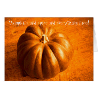 Pumpkins and Spice Orange Seasonal Generic Holiday Card