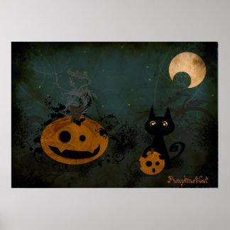Pumpkins&Cat Poster