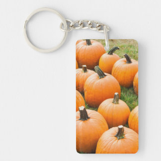 Pumpkins for Sale at a Farmer's Market Key Ring