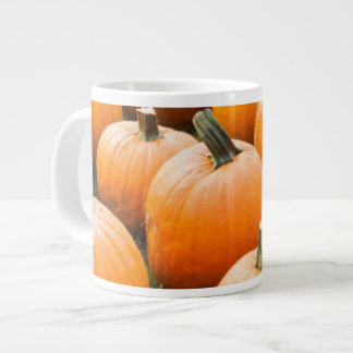 Pumpkins for Sale at a Farmer's Market Large Coffee Mug