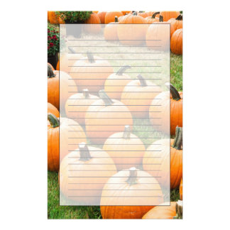 Pumpkins for Sale at a Farmer's Market Stationery