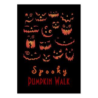 Pumpkins Glowing Business Card Template