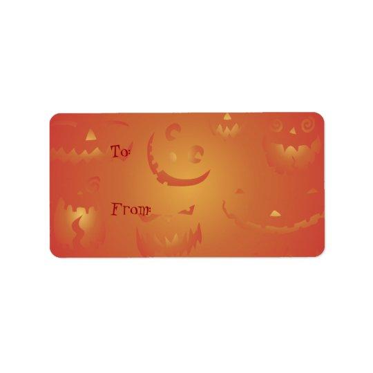 Pumpkins Glowing Halloween Gift Tag