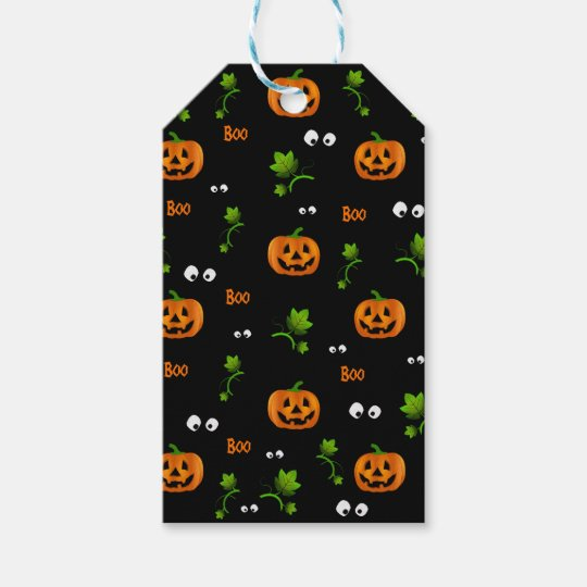 Pumpkins - Halloween pattern Gift Tags