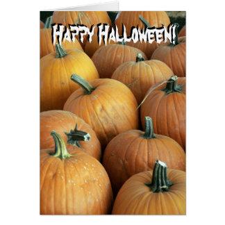 pumpkins Happy Halloween card