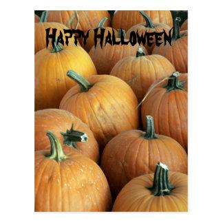 pumpkins Happy Halloween postcard