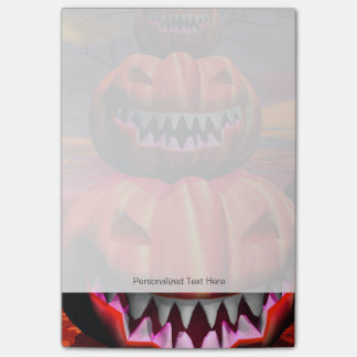 Pumpkins In Halloween Scene Post-it Notes