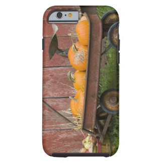 Pumpkins in old wagon tough iPhone 6 case