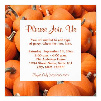 Pumpkins Invitations