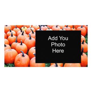Pumpkins Personalised Photo Card