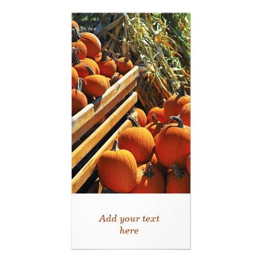 Pumpkins Photo Greeting Card