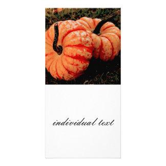 pumpkins photo card template