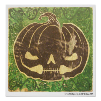 Pumpkin's Smile Poster