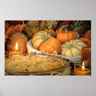 Pumpkins still life poster