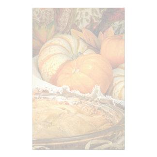 Pumpkins still life stationery