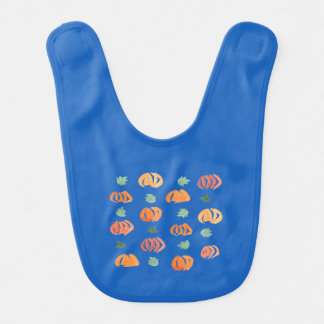 Pumpkins with Leaves Baby Bib