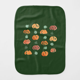 Pumpkins with Leaves Burp Cloth
