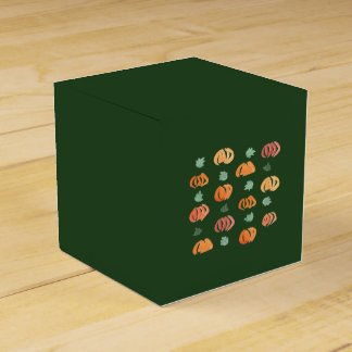 Pumpkins with Leaves Classic Favor Box