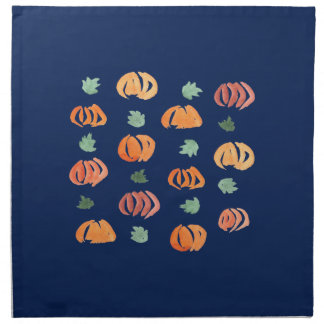 Pumpkins with Leaves Dinner Cloth Napkins