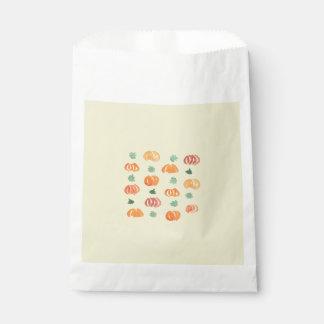 Pumpkins with Leaves Favor Bag