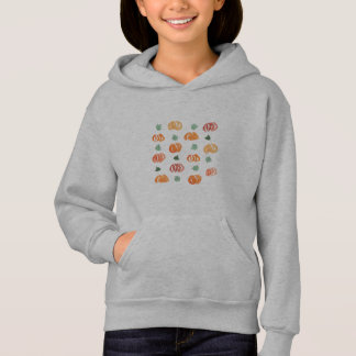 Pumpkins with Leaves Girls' Hoodie