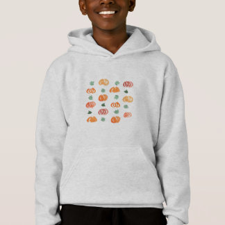 Pumpkins with Leaves Kids' Hoodie