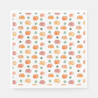 Pumpkins with Leaves Luncheon Paper Napkins