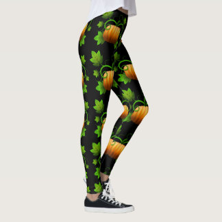Pumpkins with Vines Thanksgiving Leggings